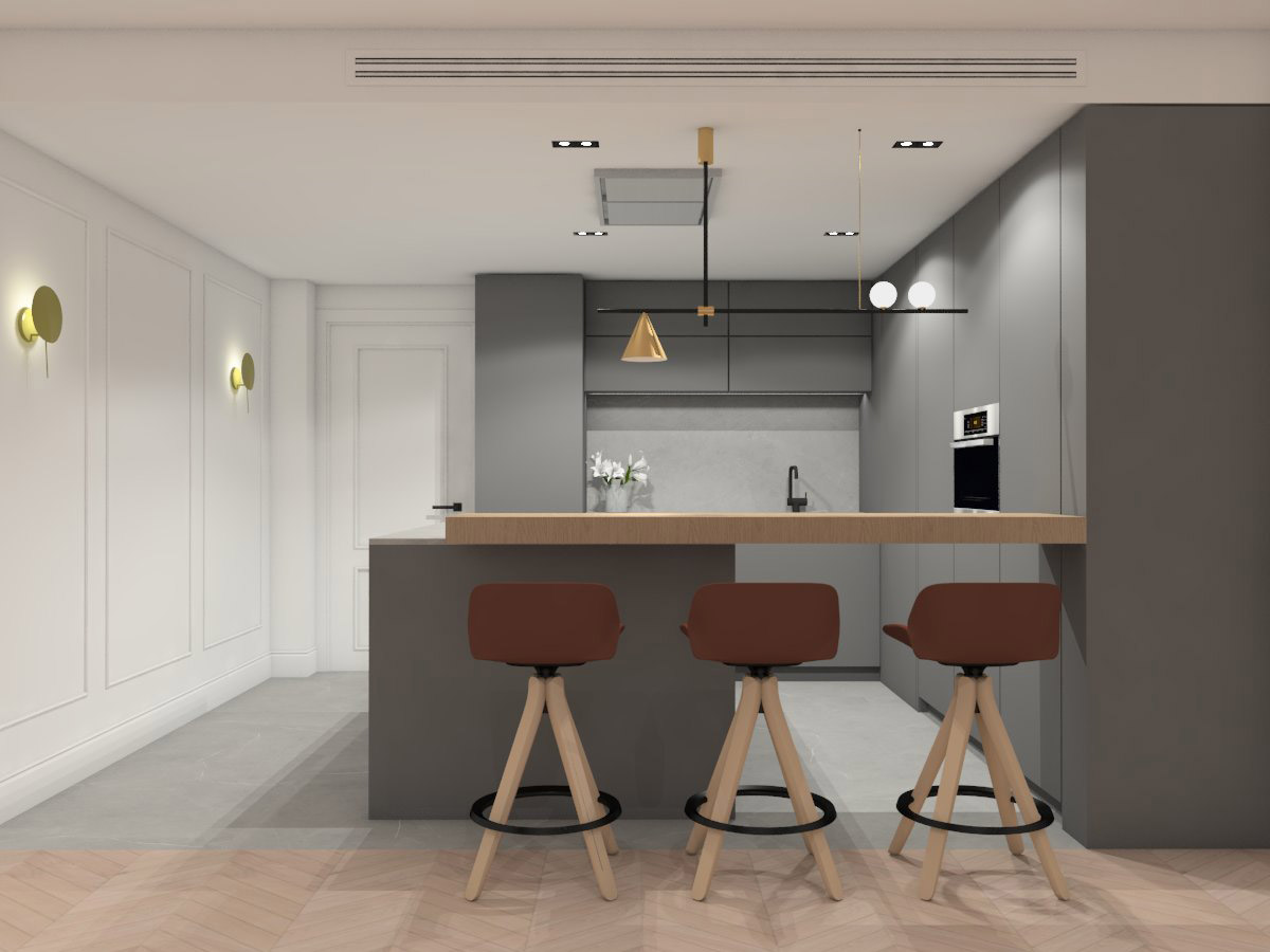 Cocina de vivienda en Valencia